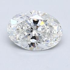 1.29 Carat 椭圆形 Diamond 非常好 G VS2