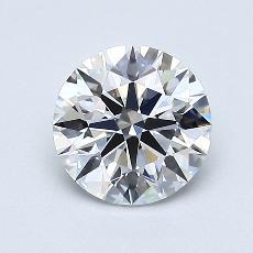 0.92-Carat Round Diamond Ideal D VVS2