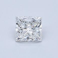 0.73-Carat Princess Diamond Very Good E VVS2