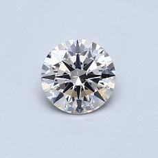 0.50-Carat Round Diamond Ideal I IF