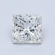 1.09 Carat 公主方形 Diamond 非常好 H VS2