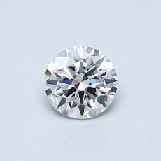 0,40-Carat Round Diamond Ideal E VS2