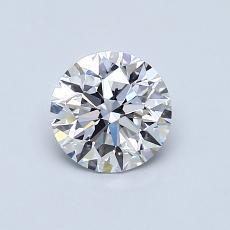 0.75 Carat 圆形 Diamond 理想 D VS1
