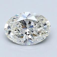 1.51 Carat 椭圆形 Diamond 非常好 I VS1