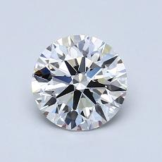 1,01-Carat Round Diamond Ideal F VVS1