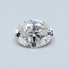 目标宝石:0.50克拉椭圆形切割钻石