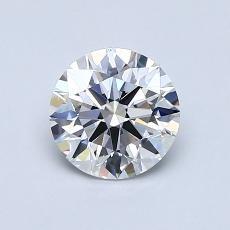 0.91-Carat Round Diamond Ideal D VVS2