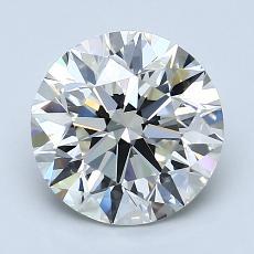 2.20-Carat Round Diamond Ideal I VVS2