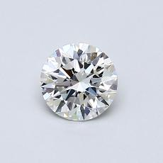 0,50-Carat Round Diamond Ideal D VVS1