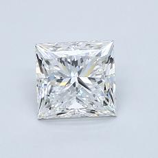 ターゲットの石:1.00カラットプリンセスカットダイヤモンド