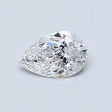0.50-Carat Pear Diamond Very Good D SI1