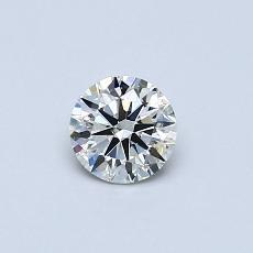 推薦鑽石 #4: 0.40 克拉圓形切割鑽石