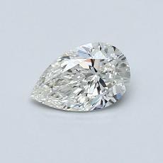 0.50-Carat Pear Diamond Very Good H VS1