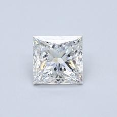 0.52-Carat Princess Diamond Very Good F SI1