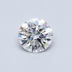 0.51 Carat 圆形 Diamond 理想 E VS1