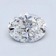 1.01 Carat 椭圆形 Diamond 非常好 E VS1