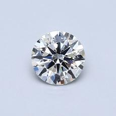 推薦鑽石 #1: 0.50 克拉圓形切割鑽石
