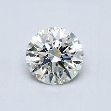 0,70-Carat Round Diamond Ideal J VS1