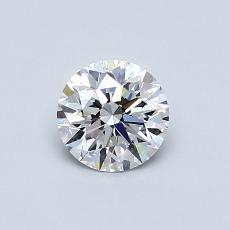0.60-Carat Round Diamond Ideal E IF
