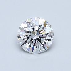 0.62 Carat 圆形 Diamond 理想 E VVS2