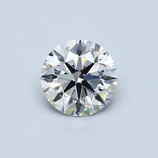 0,57 Carat Rond Diamond Idéale E IF