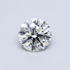 0,51 Carat Rond Diamond Idéale H VVS1