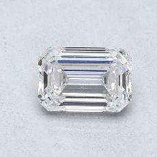 0,70-Carat Emerald Diamond Very Good D VVS1