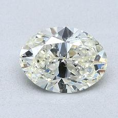 1,00 Carat Ovale Diamond Très bonne K SI2