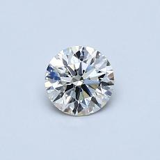 0,40-Carat Round Diamond Ideal J VS2