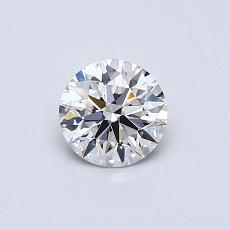 0.52-Carat Round Diamond Ideal D IF