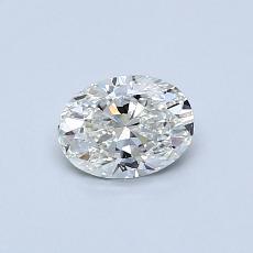 推荐宝石 1:0.50克拉椭圆形切割钻石