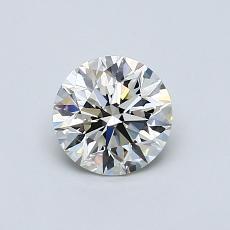 0.70 Carat 圓形 Diamond 理想 J VVS1