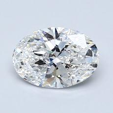 1.05-Carat Oval Diamond Very Good E SI1