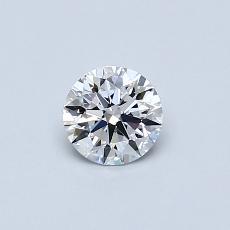 0.42 Carat 圆形 Diamond 理想 D VVS2