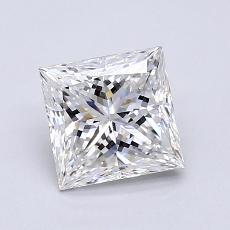 1.01-Carat Princess Diamond Very Good F SI1