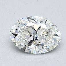 1,00-Carat Oval Diamond Very Good H VVS1