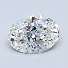 1,20 Carat Ovale Diamond Très bonne F VVS2