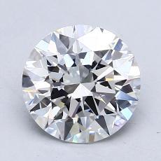 1.50 Carat 圆形 Diamond 理想 D VVS1