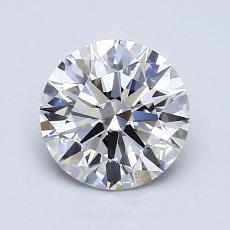 1.08-Carat Round Diamond Ideal G VVS1