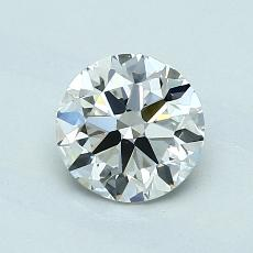 0,90-Carat Round Diamond Ideal G VVS2