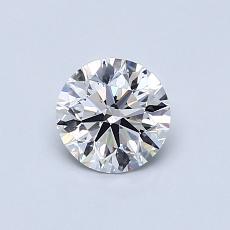 0.61 Carat 圓形 Diamond 理想 D VS2