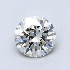 1.00-Carat Round Diamond Ideal H VVS2