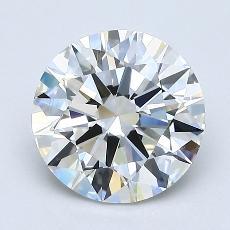 1,53 Carat Rond Diamond Idéale G VVS1