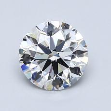 1.20-Carat Round Diamond Ideal E VVS2