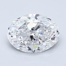 1.21 Carat 椭圆形 Diamond 非常好 D IF
