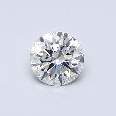 0,50 Carat Rond Diamond Idéale I SI2