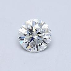 0.50-Carat Round Diamond Very Good F VVS1