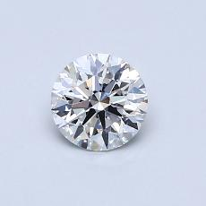 0.50-Carat Round Diamond Ideal E VS2
