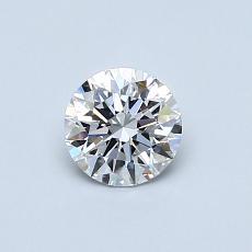0,50 Carat Rond Diamond Idéale D VVS1