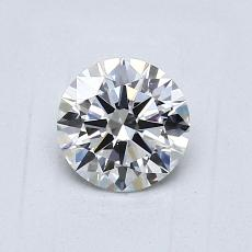 0,70-Carat Round Diamond Ideal E VVS1